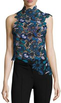 Self-Portrait Self Portrait Celeste Guipure Lace Asymmetric Top