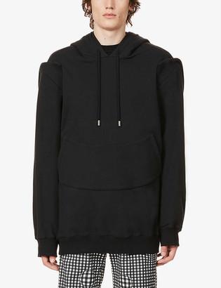 Nicomede Contrast-panel cotton-jersey hoody