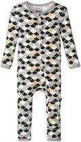 Kickee Pants Print Fitted Coverall (Baby) - Midnight Scales - 3-6 Months