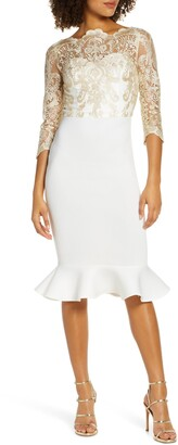 Chi Chi London Agape Lace Cocktail Dress