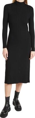 Vince Women's Variegated Rib Turtleneck Dress