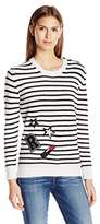 Rebecca Minkoff Women's Prim Stripe Sweater Withpatches