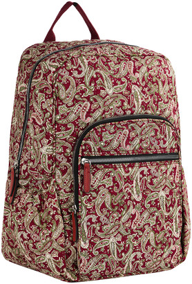 Mkf Collection By Mia K. MKF Collection by Mia K. Women's Backpacks Burgundy/Persimmon - Burgundy & Persimmon Paisley Quilted Backpack
