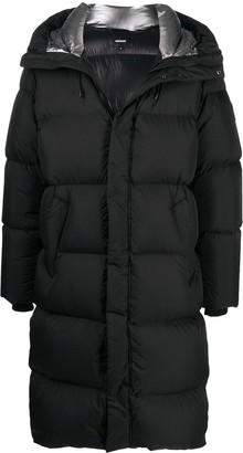 Mackage Long Hooded Down Coat