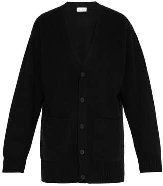 Raey Long-line Cashmere Grandad Cardigan - Mens - Black