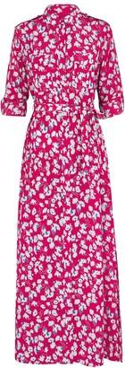 Equipment Major floral-print silk shirt dress