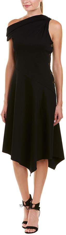 Derek Lam 10 Crosby One-Shoulder Midi Dress