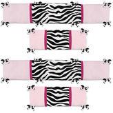 JoJo Designs Sweet Zebra Pink Collection Crib Bumper