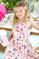 Yumi Girl Tea Party Print Dress Pink