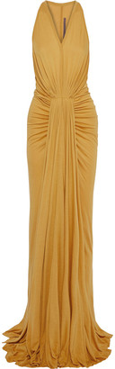 Rick Owens Lilies Draped Jersey Gown