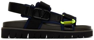 Valentino Navy Garavani VLogo Sandals
