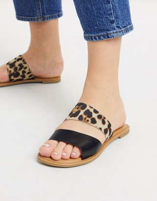 Call it SPRING brosna flat sandals in leopard