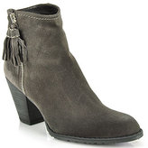 Stuart Weitzman Prancing - Taupe Suede Ankle Bootie