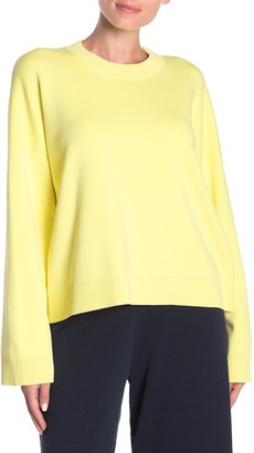 Vince Solid Boxy Crew Neck Pullover