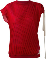 Marni plisse pleat knitted top - women - Silk/Cotton - 38