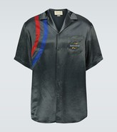 Gucci Striped camp-collar shirt