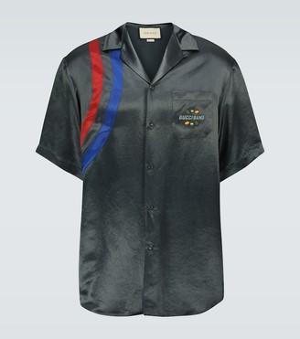 Gucci Striped camp-collar shirt