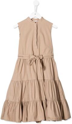 BRUNELLO CUCINELLI KIDS Panelled Midi Dress