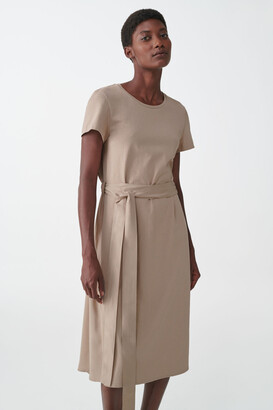 Cos Drawstring Mulberry Silk Dress