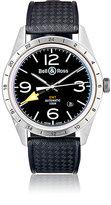 Bell & Ross Men's BR 123 GMT 24H Watch-BLACK