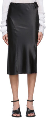 Ann Demeulemeester Black Silk Ribbon Skirt