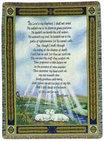 Manual Woodworker Manual 50 x 60-Inch Tapestry Throw, 23rd Psalm The Lord Is My Shepherd
