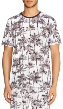 Tallia Men's Slim-Fit Stretch Palm Tree Short Sleeve Shirt