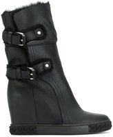 Casadei camp wedge ankle boots