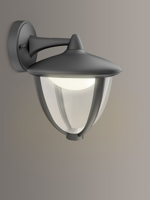 Philips Robin LED Outdoor Wall Lantern, Black