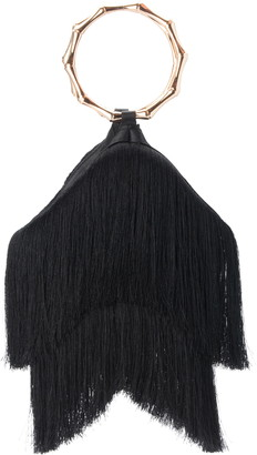Olga Berg Teenie Fringe Top Handle Bag