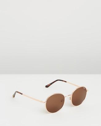 Quay Mod Star Rose Gold Round Sunglasses