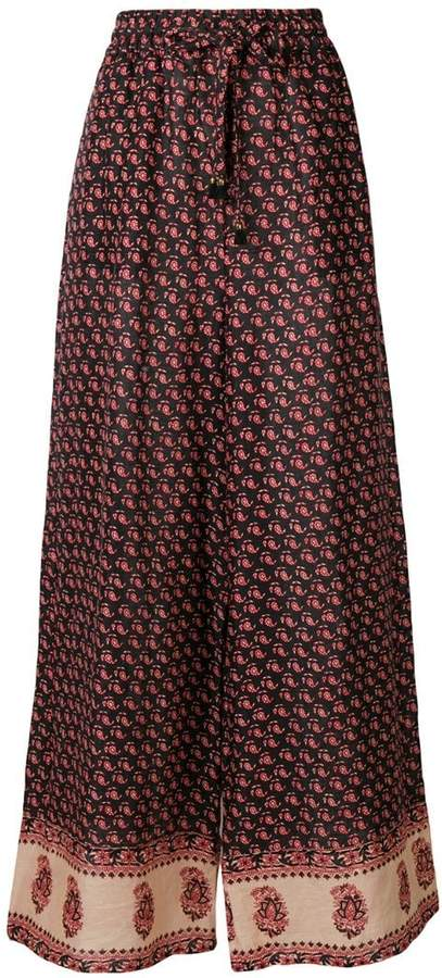 Zimmermann Jaya printed wide-leg trousers