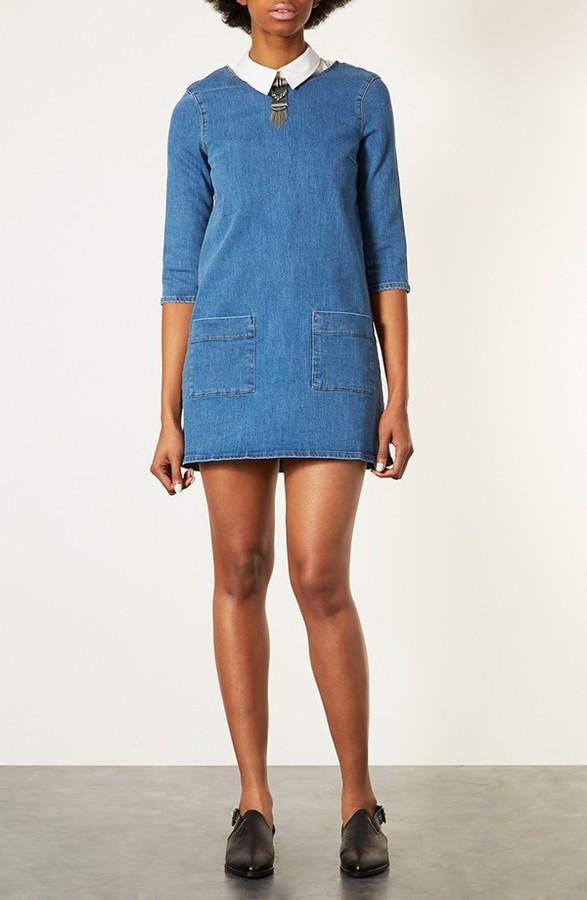 Topshop Denim Tunic Dress