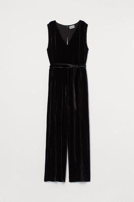 H&M Velvet jumpsuit