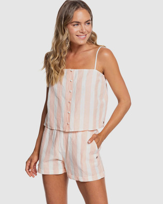 Roxy Womens Back In The Water Strappy Top
