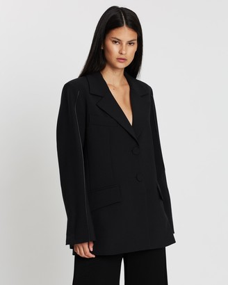 Ellery Patti Blazer with Sleeve Pintuck