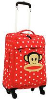 Paul Frank Julius Monkey Spot Small 4 Wheel Suitcase - Red