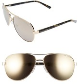Ted Baker Women's 60Mm Aviator Sunglasses - Gunmetal