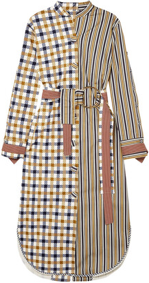 Silvia Tcherassi Kylie Patchwork Cotton-blend Midi Dress