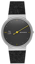 Skagen Ancher Men's Stainless Steel Grey Strap Watch