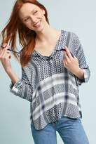 Anthropologie Indiana Printed Blouse
