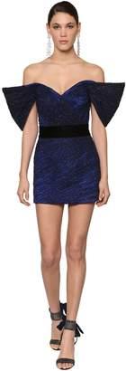 Raisa & Vanessa Embellished Tulle Mini Dress W/crystals