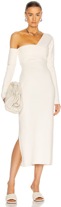 Proenza Schouler Bandagey Knit Cut Out Maxi Dress in Off White   FWRD