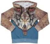 Madson Discount Wolf Printed Cotton Blend Sweatshirt