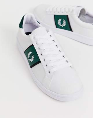 Fred Perry B721 canvas tricot sneakers in white