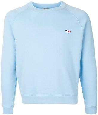 MAISON KITSUNÉ Logo Patch Crew Neck Sweatshirt
