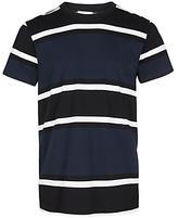 Samsoe & Samsoe Andres Block Stripe T-shirt, Black