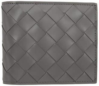 Bottega Veneta Grey Intrecciato Classic Wallet