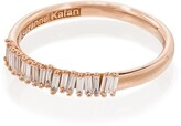 Suzanne Kalan 18kt rose gold Half Eternity diamond ring