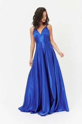Coast Strappy Satin Maxi Dress